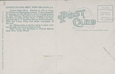 Reverse side: U.S. Mint, New Orleans, La.