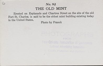Reverse side: The Old Mint