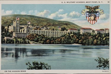 U.S. Military Academy, West Point, N.Y. on the Hudson River