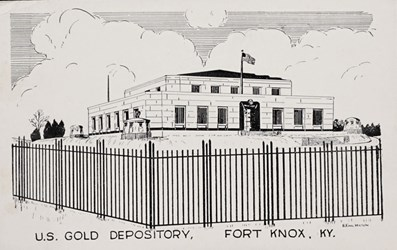 U.S. Gold Depository, Fort Knox, KY.