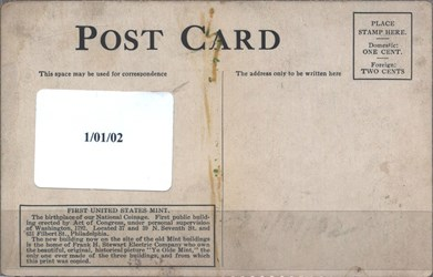 First U.S. Mint Postcard