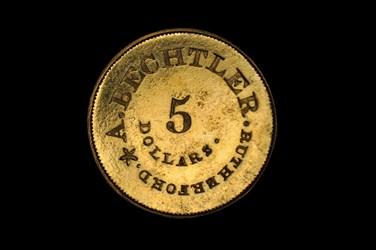 (1922) A. BECHTLER $5                                   (Restrike)