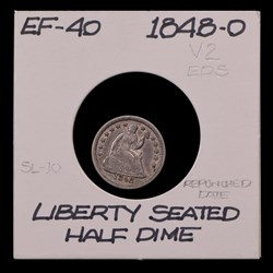 1848-O, V-2, Repunched Date