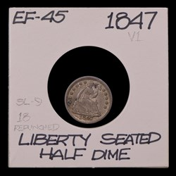 1847, V-1, Repunched Date