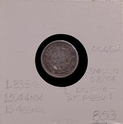 1840-O, V-4, Repunched Date