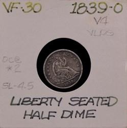1839-O, V-4, Shattered Reverse