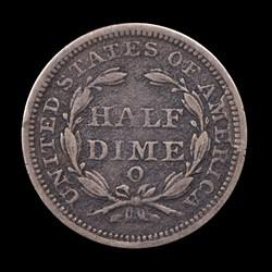 1844-O, V-1, Reverse Cud