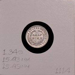 1837, V-6, Small Date