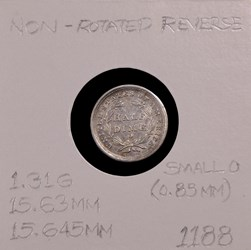 1839-O, V-3, Non-rotated dies