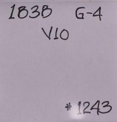 1838, V-10, Reverse Crumbling