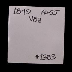 1849, V-8, Repunched Date
