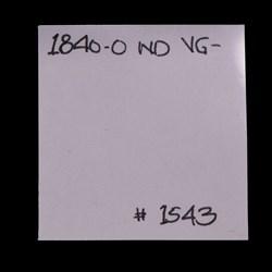 1840-O, No Drapery