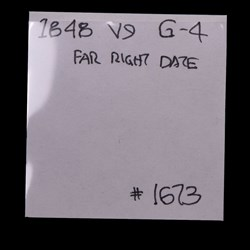 1848, V-9, Far Right Date