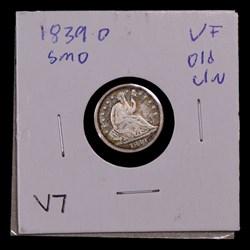 1839-O, V-7, Medium-O