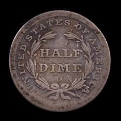 1839-O, V-2, Shattered Reverse