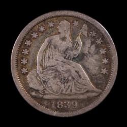 1839-O, V-9, Shattered Reverse