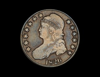 Civil War Engraved 1826 Bust Half Dollar
