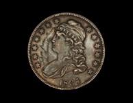 1834 Bust Half Dollar Taken From Moseby the Guerrilla