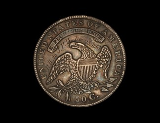 1834 Bust Half Dollar Taken From Moseby the Guerrilla