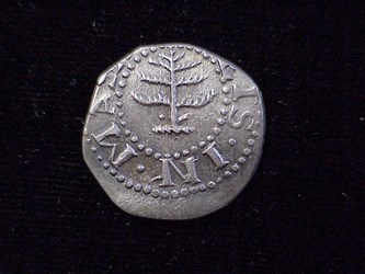1652 Pine Tree Sixpence, N33a