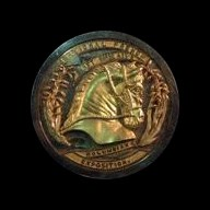 "Unique Gold ""Constructed"" World's Columbian Expo Medal"