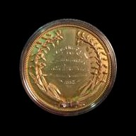 """Unique Gold """"Constructed"""" World's Columbian Expo Medal"""