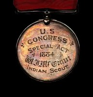 1883 Ute Indian Captives Rescue Congress Medal