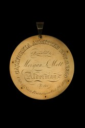 City of San Francisco to Morgan L Mott, Alderman - Gold Nugget Medal