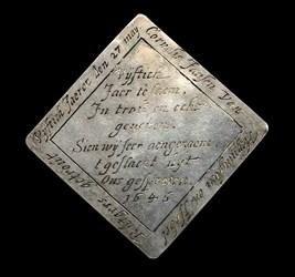 1646, wedding medal, 4 sided