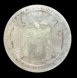 1632, wedding medal box