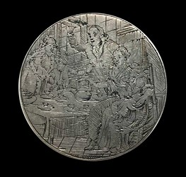 1738, birth medal