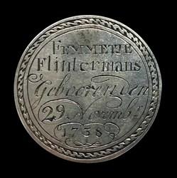 1738, birth medal