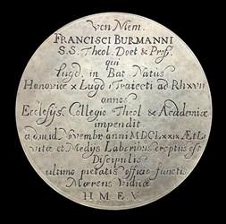 1679, Professorial death medal