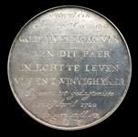 1720, wedding anniversary medal