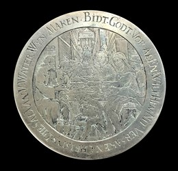 17th century, wedding medal