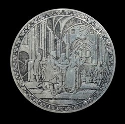 17th century, wedding medal