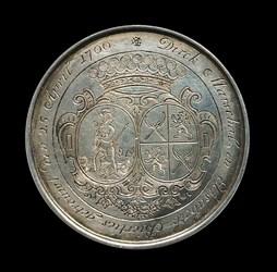 1700, 25th wedding anniversary medal