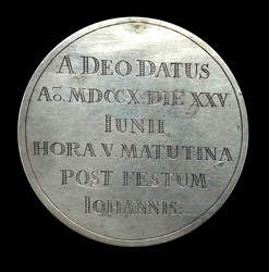1710, birth medal