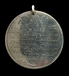 1797, 25th wedding anniversary medal