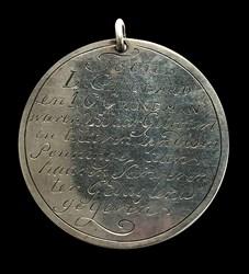 1797, 25th wedding anniversary medal