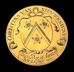 1655, death medal of Christina van Nieuwenhoven