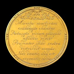 1686, Leiden town medal by Johannes Smeltzing