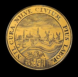 1672, Leiden town medal by Arend Smeltzing