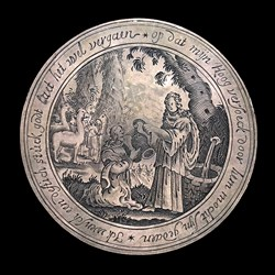 1625, marriage medal, Rachel/Jacob