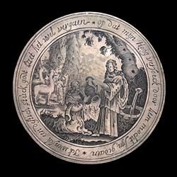 1625, marriage medal, Rachel/Jacob