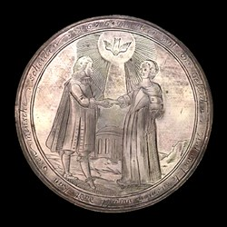 1676, marriage medal,  bombardment