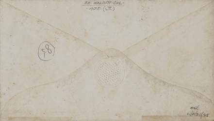 Reverse of Hartford, Connecticut Envelope: Patriot with Flag