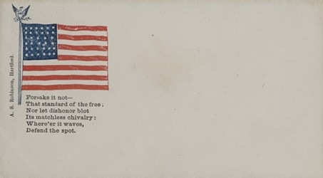 A.S. Robinson, Hartford Envelope with Flag