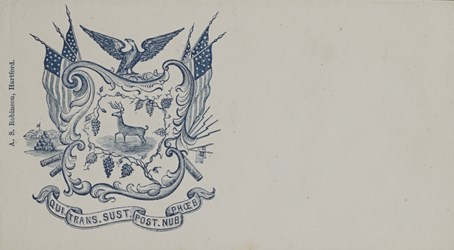 A.S. Robinson, Hartford Envelope: Qui. Trans. Sust. Post. Nub. Phoeb.