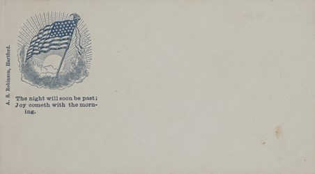 A.S. Robinson, Hartford Envelope: The Night Will Soon Be Past?